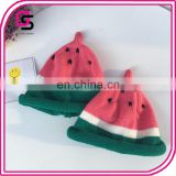 Fashion latest baby cute hat hand knitted watermelon cap