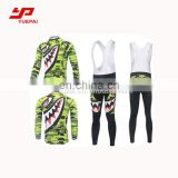 Outdoor Green Cycling Apparel Bicycle Cycling Jersey Set Long Sleeve Men jersey Bib Long