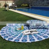 2016 fashion design beach towel with beautiful flanges Indian Round Beach Towel Tapestry Home Decor france