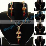 DAILY WEAR PENDANT SET - WHOLESALE LOT CZ PENDANT SET - 2015 MEENAKARI PENDANT SET