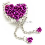 rose heart shape usb flash drive