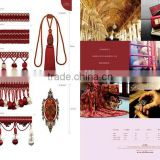 Margaret Style--Pomegranate red,curtain tassel fringe,wholesale tassels,tassel and fringe