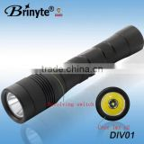 Best quality aircraft-grade AL-6061-T6 aluminum anodized uv led flashlight