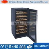 compressor cooling wine showcase with wood rack freestanding wine cooler