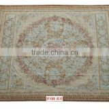 handmade superior New Zealand wool french aubusson wool rug