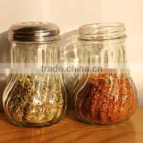 Glass Kitchen spice jar twill Barbecue sauce jar restaurant shaker salt and pepper shaker
