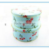 Wholesale SGS approved round tin box set roun tin box container