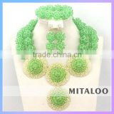 Mitaloo Wholesale African Costume Jewelrt Set Nigerian African Beads Jewelry Sets MT0003