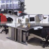 Modern appearance Aluminum Partition ,Curved Office Workstation for 4 people ( SZ-WS409)
