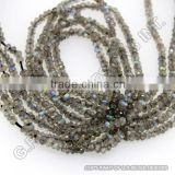 natural labradorite gemstones beads strand rondelle faceted blue fire semi precious