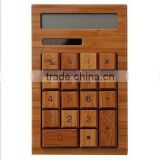 Bamboo creative calculator ,Eco-friendly office products, bamboo calculator for hotel& coffe shop dispaly