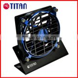 Hot selling 140mm summer office desk rotating frame silent wide air flow USB cooling stand fan