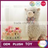 Wholesale grey color alpaca sheep toy for 2015