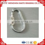 Manufacturer wholesale high quality Aluminum password Snap Hook ,rigging Industrial with password carabiner SpringHook                                                                         Quality Choice