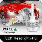 h3 Super Bright ent car led headlight h3 waterproof projector car led headlight h3 projector car led headlight bulbs