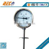 (WSS-414) 100mm unique no thread with flange connection bimetal galileo type kitchen food thermometer