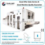 Automatic V Fold Embossing Hand Towel Paper Kraft Wrapping Package Making Machinery Production Line