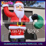 inflatable Christmas Santa, inflatable christmas father with bag, important Christmas decoration