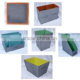 metal zinc paint coating colorful Stationery storage set storage bin, magazines case, pencil vase, letters desk organizer
