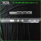 Opening On The Both Ends Quartz Glass Tube With Groove For Sale