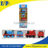 Pull back mini metal cartoon train toy for children