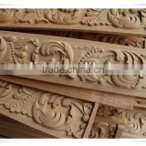 linyi supply hand carved decorative wood window frame wood caving window frame antique wood carved window frame