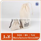 custom nutural linen drawstring pouch packaging coffee