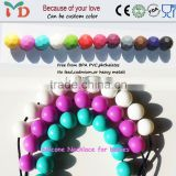 FDA approved soft baby chewing silicone teething beads for jewelry