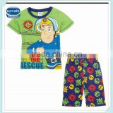 2-6Y (CD4723) Nova kids cotton set baby clothes short sleeves kids stock clothing sets for boys