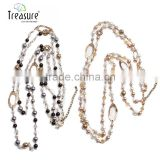 Foreign Trade jewelry wholesale Korean version of the new long section sweater chain fashion pearl crystal bead necklace