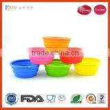 Hot Selling Portable Silicon Pet Bowl Silicone Folding Pet Bowl