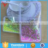 Glitter free flowing liquid star clear mobile phone case for iphone 5G                                                                         Quality Choice