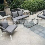 stackable round rattan sofa outdoor furniture, plastic rattan wicker garden furniture, brown rattan furniture
