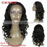 cheap wholesale nice spring curl 100% brazilian virgin remy hair lace front wig for black women