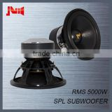 "Competition speakers subwoofer for JLD audio with 4pcs magnet motor subwoofer spl Rms 5000w 10"" 12"" 15"" 18"" subwoofer"