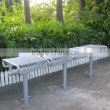 4-seater steel outdoor long bench chair metal outdoor park bench                                                                                                         Supplier's Choice