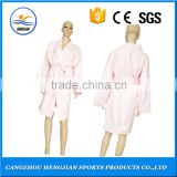 Pink advanced professional comfortable mature microfiber bathrobe for hotel/home/Sauna/Spa/swimming