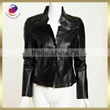 100% pu synthetic leather ladies pu leather jacket