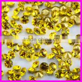 wholesale top quality citrine Point Back Crystal Rhinestone chaton point back Rhinestones