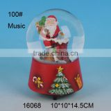 100mm Polyresin Musical Snow Globe
