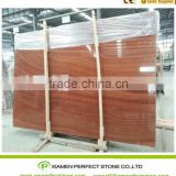 Red wooden vein marble slabs red serpeggiante from Chinese marble                                                                         Quality Choice