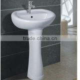 pedestal basin with CE certificate/heap Hot Sale Bathroom Ceramic Washing Bowl Floor Standing Pedestal Washing Basins