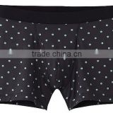 hot sell antimicrobial quick dry printed dots microfiber men underwear briefs boxer shorts