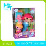 2015 New !Eco-friendly Baby Button Girl( the mermaid doll series)+cloth barbie doll (2 model mixed)