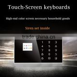 HOT!!! TFT color display touch keypad wireless gsm pstn home alarm system kit,home security burglar alarm with APP ios