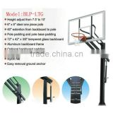 Height adjustable In-Ground Basketball System with Glass Backboard
