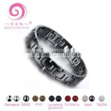 Luxury Jewelry Magnetic Bracelet Heavy Tungsten 316l Stainless Steel Bracelet With 4 in 1 Bio Energy Elements Health