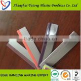 plastic transparent clear plastic cabinet pvc edge banding trim for furniture fitting accessory