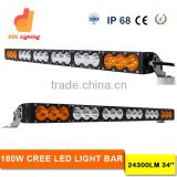 Latest 33 inch Waterproof Light Bar 180W Auto Accessories Amber 12V LED Lights CE Approved LED Bar for Offroad