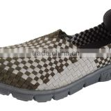 Stock Men's knitted shoes, weave stock shoes